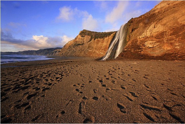 Alamere Falls в Point Reyes National Seashore, Marin County, California