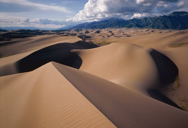 Песчаные дюны Great Sand Dunes National Park and Preserve в Colorado
