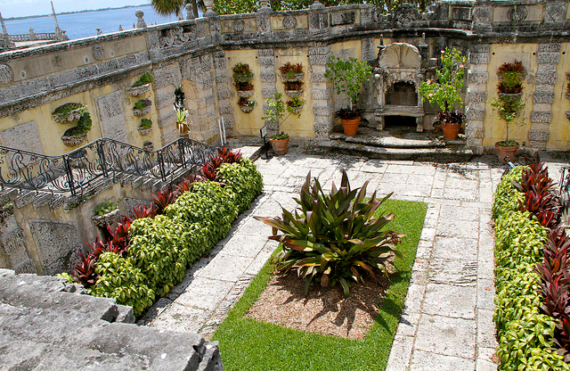 Вилла Веская Vizcaya Museum and Gardens, Майами, Флорида США
