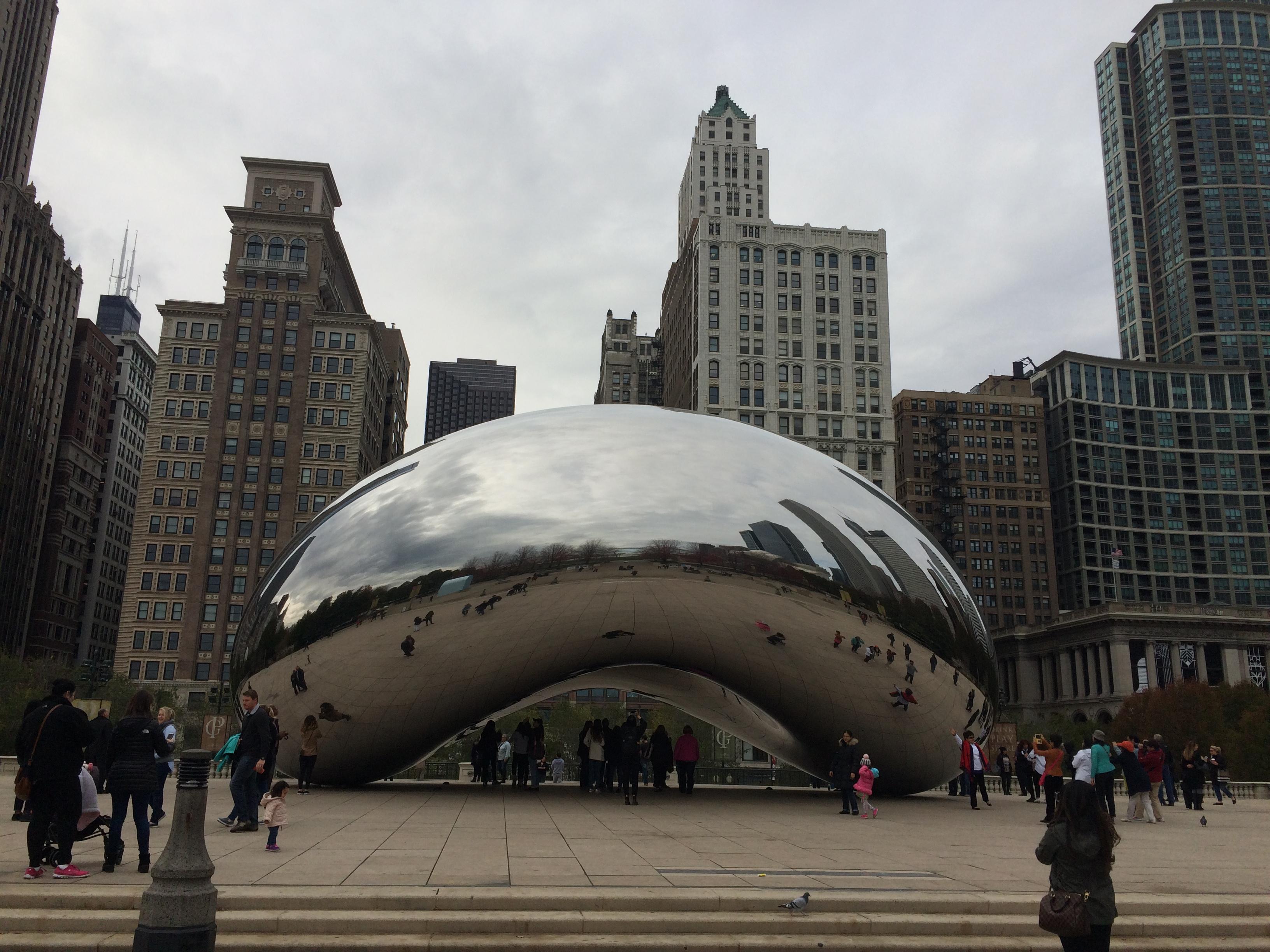 Зеркальный боб (Облачные ворота) из Чикаго (Cloud Gate, Bean)