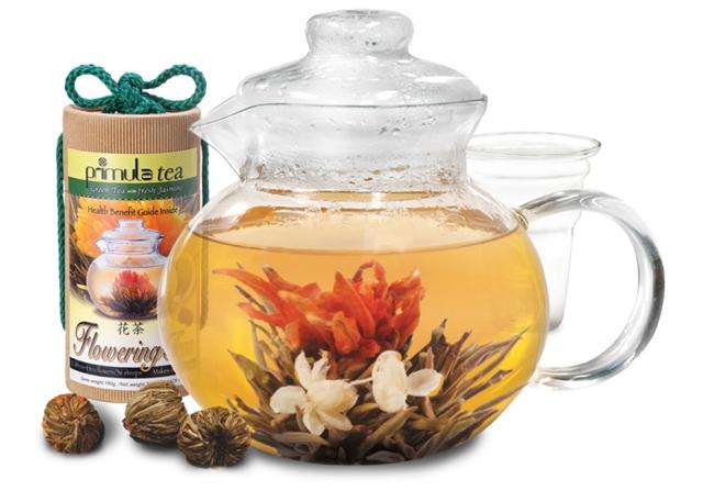 Primula Green Flowering Teas (Зеленый чай, в котром при заваривании распускается цветок)