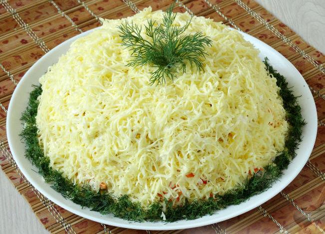 Салат Нежный из курицы, яиц и огурцов, Delicate Chicken Salad